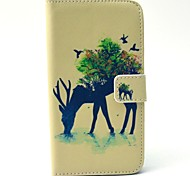 EFORCASE Reindeer Painted PU Phone Case for Galaxy S6edge S6 S5 S4 S3 S5 mini S4 mini S3 mini