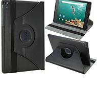nexo 9 caso - de lujo 360 que gira la cubierta elegante magnética de la PU para el nexo de google 9 con estela&sueño