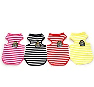 Red/Black/Yellow/Rose Cosplay Cotton Stripe T-Shirt For Dogs (Assorted Colors,Sizes)
