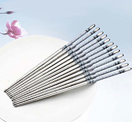 Blue & White Porcelain Pattern Stainless Steel Chopsticks