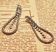 Contracted Black Alloy Earings For Women(1 pair)