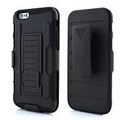 Hybrid Impact Shockproof Cover Hard Armor Shell for Apple iPhone 6 plus (Black)