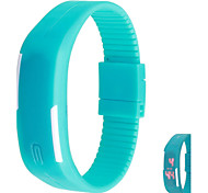 Sports Bracelet Unisex Silicone Band LED Waterproof Watches Wrist (Assorted Colors)