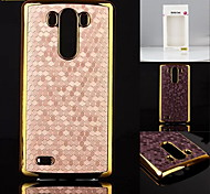 Kenile New Luxury Deigner Leather Chrome Hard Back Cae Cover For LG G3 (Aorted Color)