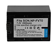 2500mAh bateria da câmera para SONY NP-FV70