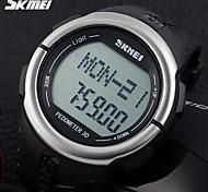SKMEI Hombre Reloj Deportivo Reloj digital LCD Pulsómetro Calendario Cronógrafo Resistente al Agua alarma Cuarzo Digital Cuarzo Japonés
