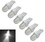 Luces Decorativas T10 0.5W 1 30-50lm LM Blanco Fresco DC 12 V 6 piezas