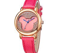 venda quente muito fashion colorido dos desenhos animados pulseira de couro com ligação cristal relógios coloridos dc-51073