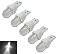 Luces Decorativas T10 1 30-50lm LM Blanco Fresco DC 12 V 5 piezas