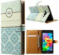 couronne et fleur totem motif portefeuille Card Case PU avec support pour Samsung Galaxy grande G530 Premier