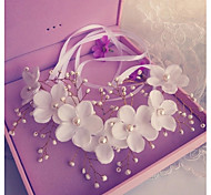 White Flower Pearl Headbands for Wedding/Party Headpiece