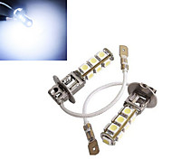 2 Stück h3 4W 13x smd 5050 150-200lm 6500-7500k kühles weißes dekoratives Licht DC 12V