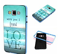 With You I Found Love Pattern Plastic/TPU 2 in 1 Design Back Cover Case for Samsung Galaxy A5