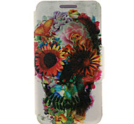 Full Body Card Holder / Flip Skull PU Leather Hard Case Cover For Sony Sony Xperia Z3 / Sony Xperia M4 Aqua / Sony Xperia M2 / Other