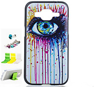 Eye Pattern PC Painted  Protective Shell Dust Plug and Bracket Assembly for Samsung GALAXY CORE Prime G360
