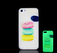 Food Pattern Glow in the Dark Cover for iPhone 4 / iPhone 4 S Case