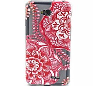 Relief Painting China Paper-Cut Pattern 0.2 Slim TPU Protective Shell for  LG L70