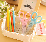 Fashion Fresh Cute Student Office Supplies Art Scissors With Protective Cover (Random Color)