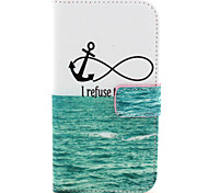 Sea Pattern PU Leather Case with Magnetic Snap and Card Slot for Alcatel One Touch Pop C7