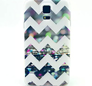 For Samsung Galaxy Case Pattern Case Back Cover Case Lines / Waves TPU Samsung S5 Mini
