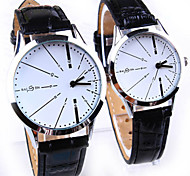Couple's Simple and Casual Round Dial Belt Fashion Quartz Watches (Assorted Colors) Cool Watches Unique Watches