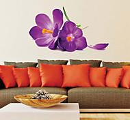 Romantic Purple Flower PVC Wall Stickers Wall Art Decals
