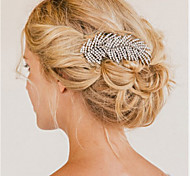 Flashion Charming Wedding Party Bride Branch Austria Crystal Silver Combs Hair Accessories 1pcs