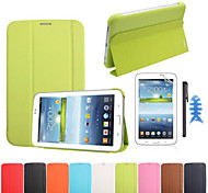 per Samsung Galaxy Tab 7.0 3 t110 lite T111 l'originale custodia in pelle tablet + screen protector + stilo + fishbone