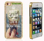 behalten Sie Ruhe und das Leben ist schön Design Luxus-Hybrid-bling Funkeln-Schein mit Kristallrhinestone-Kasten für iPhone 5/5 s