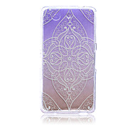 Gradual Change Lace Flowers Pattern TPU Soft Back Cover Case for Sony Xperia Z3 Mini