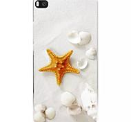 patrón de estrellas de mar pintado pc caso duro para el huawei p8