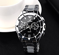 dos homens vestido relógio de forma assistir a tira de aço de alta qualidade do relógio de quartzo