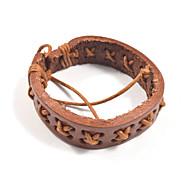 Fashion Men's Pattern Leather Bracelets 1pc