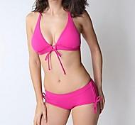 mode sexy vêtements de plage solide triangle bikini ensemble maillots de bain maillot de bain maillot de bain biquini des femmes