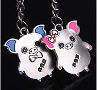 alliage de zinc porte-clés en forme de cochon (2 ps)