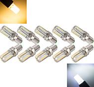 Maisförmige  Glühbirnen Warmweiß/Kühlweiß E14 - 7 W 800-1000 lm- AC 220-240 V- 10 Stücke