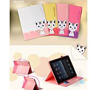 leiers®lovely Soporte gato caso ranura para tarjetas de cubierta de la carpeta del cuero del tirón magnético 3d domi para el mini ipad