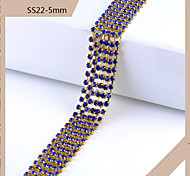 SS22 5mm Rhinestone DIY Claw Chain Dilute Claw Chain(1M,Assorted Color)