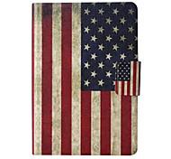 american modèle en cuir de drapeau de cas complète du corps avec support et fente de carte pour le Kindle d'Amazon paperwhite / paperwhite