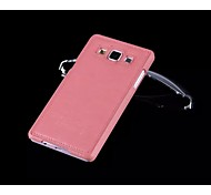 Special Design High quality Solid Color PU Leather Plastic Back Cover for Samsung A5