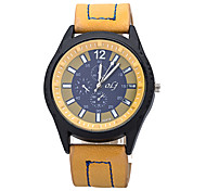 Men Watches 2015 Brand New Fashion Men's PU Strap Wristwatches Quartz Watch Designer Watches -OLJ001