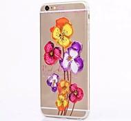 chino rosa caso del tpu pintura cayendo prueba para el iphone 6