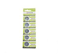 comsan 3v CR2032 baterias botão de alta capacidade (5pcs)