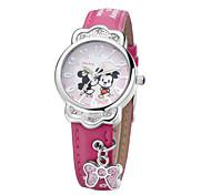 assortiment de ligne de bande dessinée couleurs de la mode pour enfants de haute qualité PU bande japon montres-bracelets de mouvement à