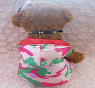 Dog Hoodie Green / Rose Winter Camouflage