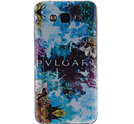 Abstract Painting Pattern Ultra Thin TPU Soft Back Cover Case for Samsung Galaxy E5