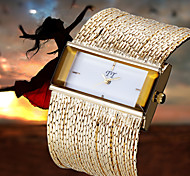 novo luxo mulheres ladys banda cadeia vestido pulseira analógico relógio de pulso de quartzo
