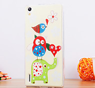 The Bird Design TPU Soft Case for Huawei P8