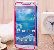 Touch Screen Soft Edge Transparent Acrylic Free Flip TPU for Samsung Galaxy S4 I9500(Assorted Colors)