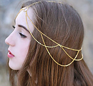 European Style Retro Fashion Chain Tassel Simple Minimalist Style Headband